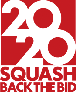 Olympia 2020 mit Squash - Back the bid logo